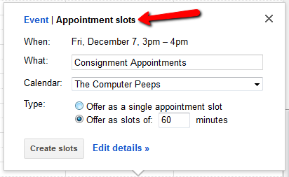 New Consignment Appointment