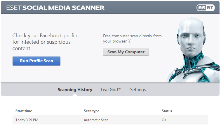 ESET Facebook App Scan
