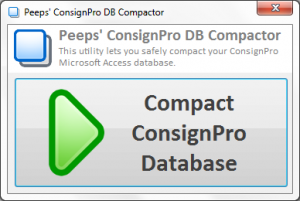 Peeps' ConsignPro DB Compactor