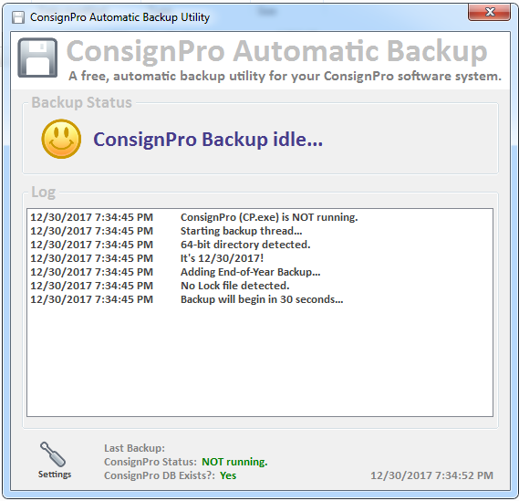 ConsignPro Software Automatic Backup by The Computer Peeps