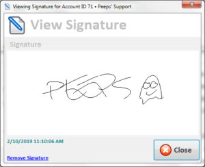 Peeps' Software Consignor Contract Signature